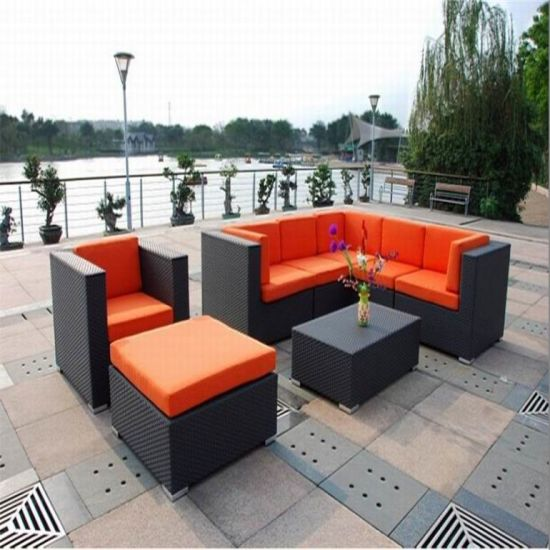 PE Rattan Sofa Bed Double Deck Bed Rattan Outdoor Furniture