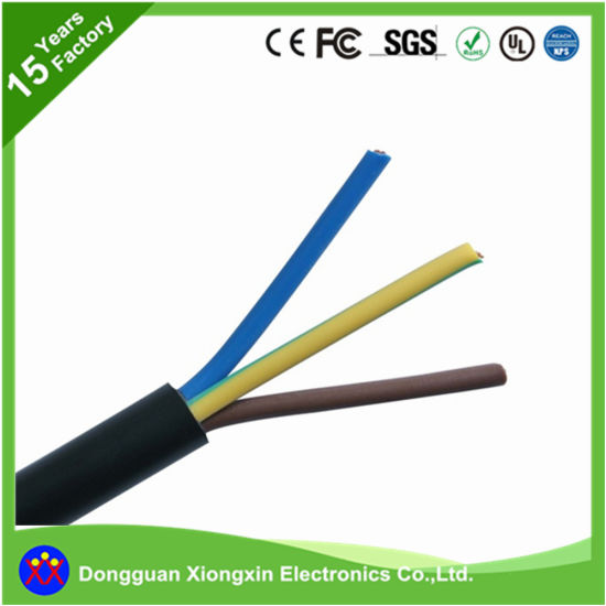 China Factory Best Price Black or Yellow Color Rvv 3 Cores Copper ...