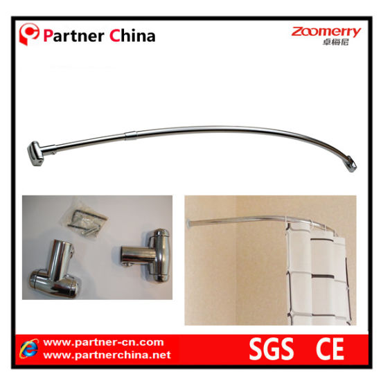Wall Mounted Stainless Steel 304 Bathroom Shower Curtain Rod 14 001