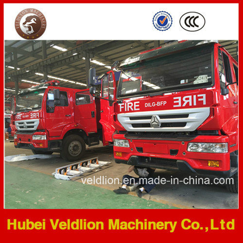 HOWO 6000L/6000liter/6cbm/6m3 Water Tanker Fire Truck pictures & photos