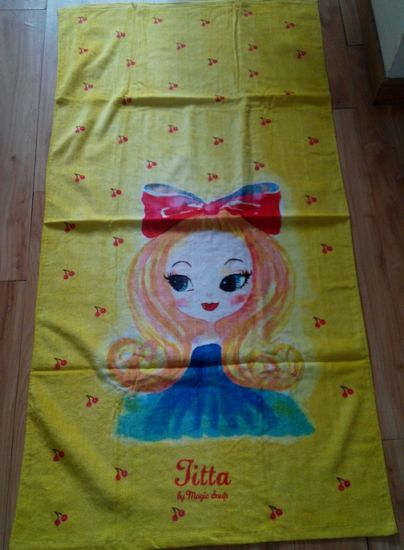 (BC-BT1021) High Quality 100% Velvet Cartoon Beach Towel pictures & photos