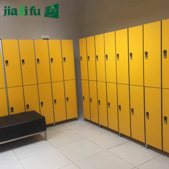Jialifu 3 Tier Corlorful Gym Lockers with Solid Phenolic Panel pictures & photos