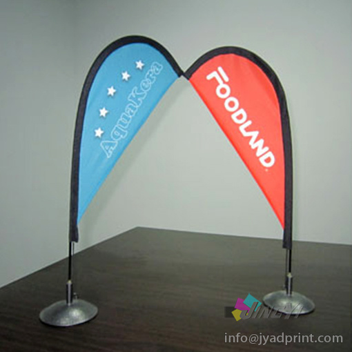 Cheap Quality Mini Tabletop/Desktop Bow Flag Banner Display Stand