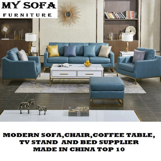 2019 Popular Modern Office Fabric and Leather Sofa pictures & photos