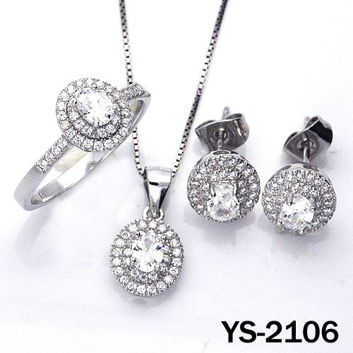 Jewelry Set 925 Silver Costume CZ Engagement Jewellery. pictures & photos