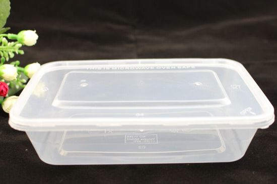 650ml Pla Disposible Plastic Rectangular Microwave Takeaway Containers With Lids