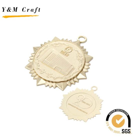 Gold Painting Embossed Logo Medal for Award pictures & photos