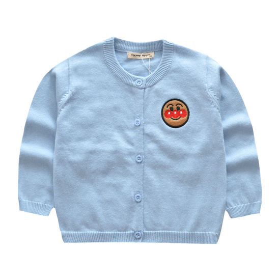 Factory Direct Sale Children's Sweater Coat Knitted Sweaters for Children Bread Superman Coat