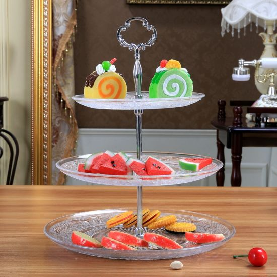 Hot Sell Good Decoration 3 Tier Cake Plate pictures & photos