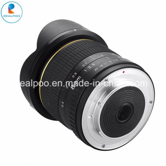 Hot Selling 8mm F3.5 Fisheye Lens for All DSLR Camera