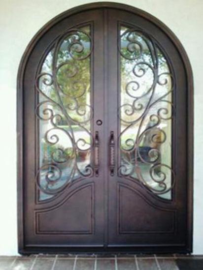 Double Wrought Iron Front Door
