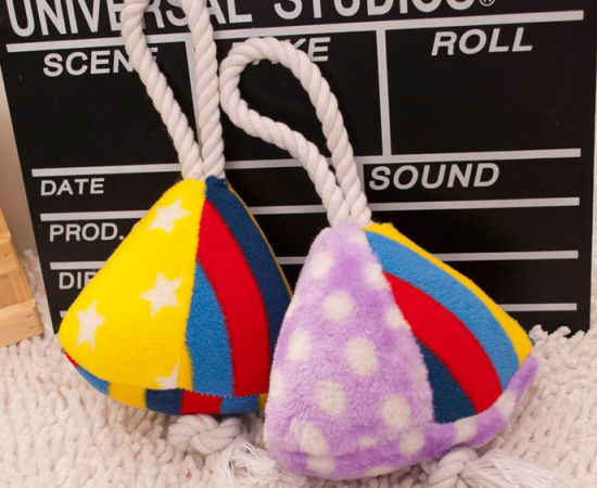 New Design Sugar Triangle Plush Pet Toys