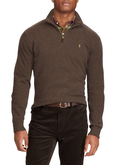 Newest Arrvial Mens Long Sleeve Estate Rib Polo Shirts Wholesale