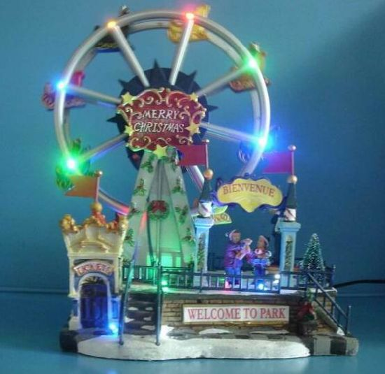 christmas decoration 12 led ferris wheel with eight christmas songs - Christmas Ferris Wheel Decoration