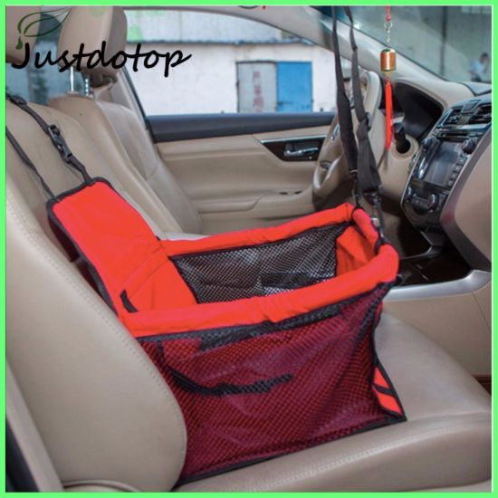 Car Booster Seat Carrier For Dog Folding Pet Cat Travel Safety Belt Harness Cover Traveling Bag