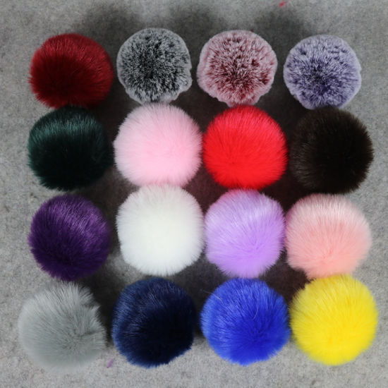 8cm Women Fur Ball Knitted Crochet Baggy Hat Vogue Beanie POM POM for Cap pictures & photos