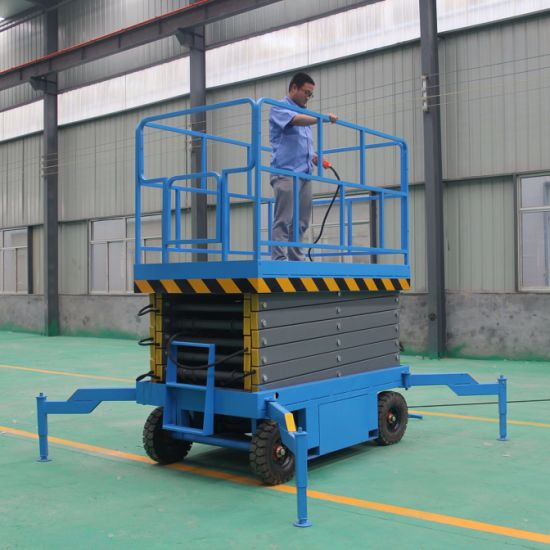 Hot Sales Cheap Price Trailing Mobile 4m-18m Hydraulic Scissor Lift with Ce pictures & photos