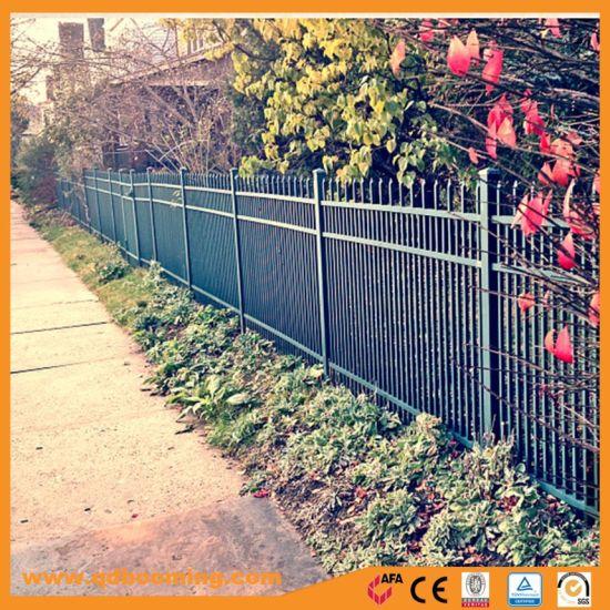 Black Powder Coated Commercial Steel Garden Fence Panel