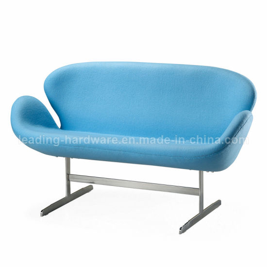 Modern Fabric Leisure Swan Sofa for Living Room and Hotel Lobby Sofa