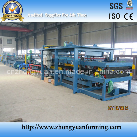 China Ce Standard Discontinuous PU EPS Sandwich Galvanized Alu Zinc Roof Sheet / 840 Wall Panel Roll Making Forming Machine Factory Price pictures & photos