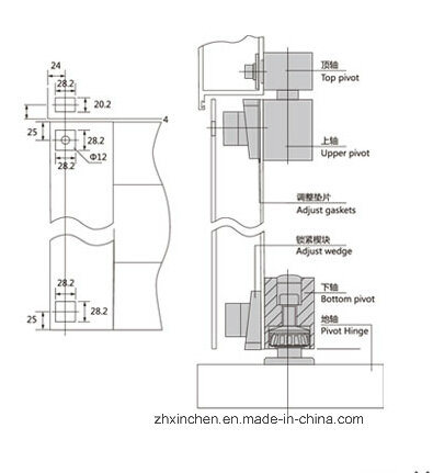China Xc D3109 Door Hardware Glass Door Floor Spring China Floor