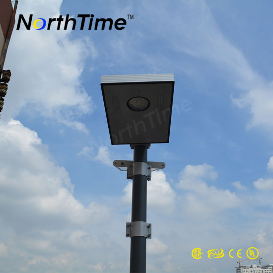 6-120W Wireless APP Controller PIR Sensor Integrated Outdoor Solar Street Light pictures & photos