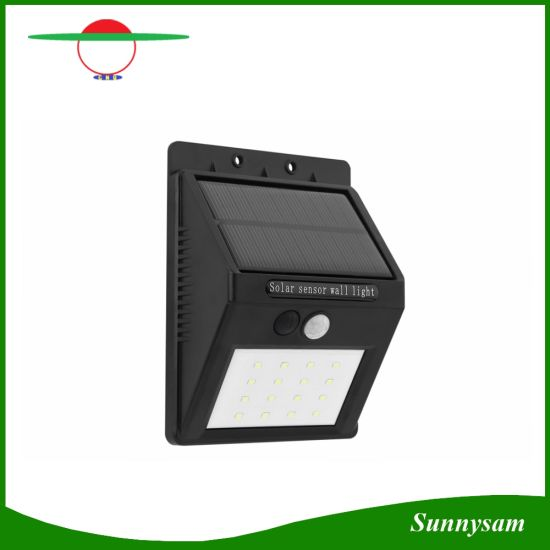 china 16 led triangle solar powered motion sensor light outdoor