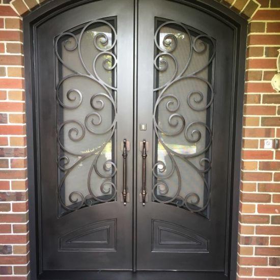 China 2018 Latest Design Beautiful Iron Front Door Exterior Iron