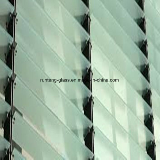 China 3mm Toughended Flat Acid Etched Glass For Doors And Windows