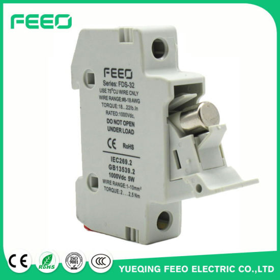 Thermal Fuse 1p 32A 1000V Cylinderical DC Fuse pictures & photos