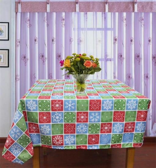 100% Polyester Solid Jacquard Tablecloth /Runner pictures & photos