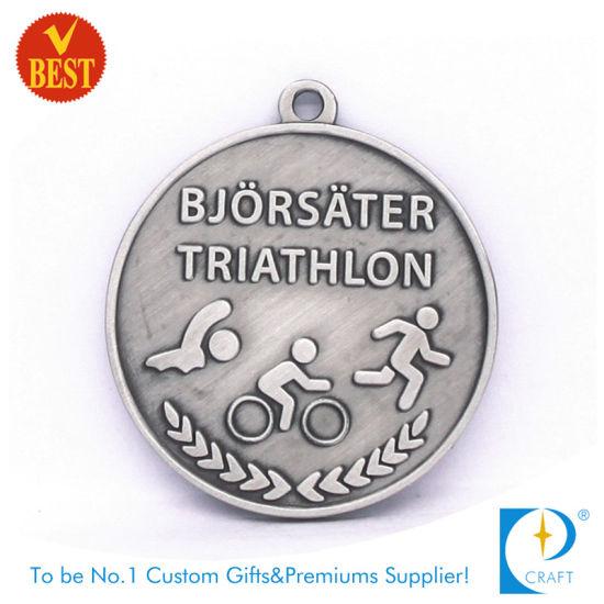 Cheap Custom Stamping Antique Sport Award Triathlon Medal