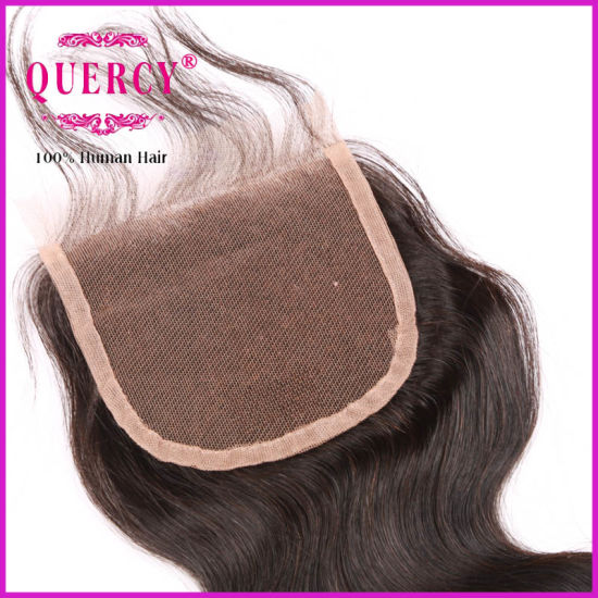 100% Human Virgin Hair Cheap Free Parting Lace Closure pictures & photos
