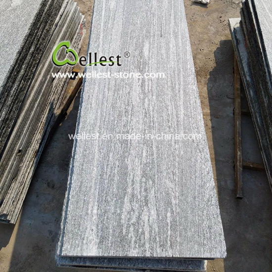 Straight Vein Nero Santiago Granite Flamed Slab for Sale pictures & photos