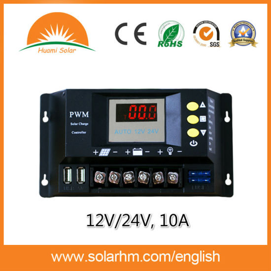 (HM-10B) Hot Sale 12V/24V10A LED Display Solar Power Controller pictures & photos