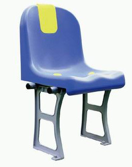Floor Mounted Solid Plastic Bucket Seat with Full Backrest for Stadium