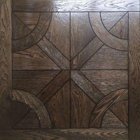 China Dark Satin Brushed Oak Parquet Flooring China Wood Flooring