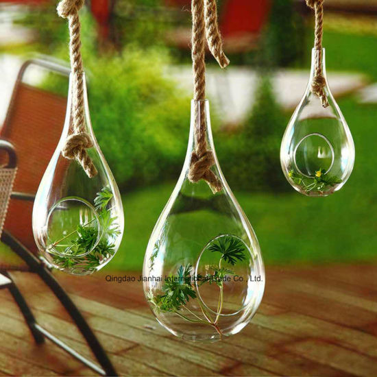 China Custom Clear Glass Terrarium Glass Vase Glass Container For