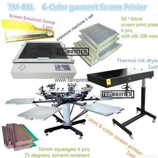 ecbaa2de6 Six Color T-Shirt Printing Supplier Screen Printing Machine Suit pictures &  photos