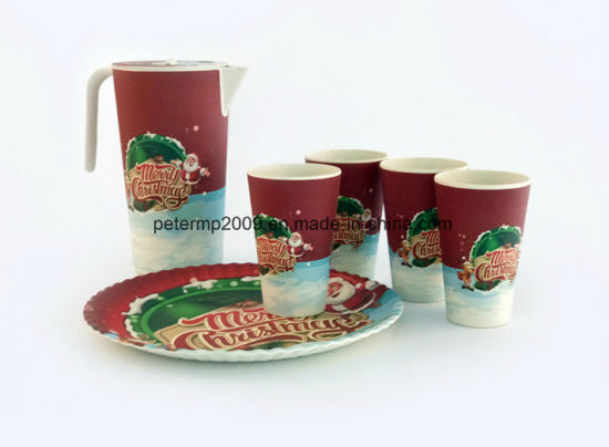 Christmas Design Bamboo Fiber Biodegradable Cup with Customized