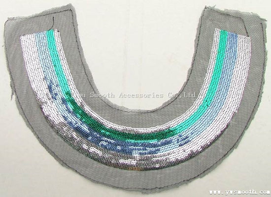 Colours Sequined Joint Lace Collar Fabric for Dresses Garment Accessories