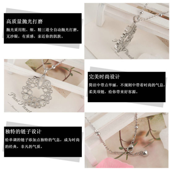 Fashion Stainless Steel Pendant Necklace Costume Accessory (hdx1060) pictures & photos