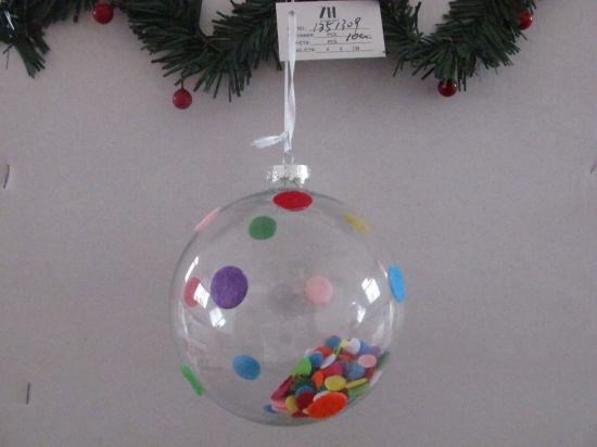 Economic Christmas Glass Ball with Dots