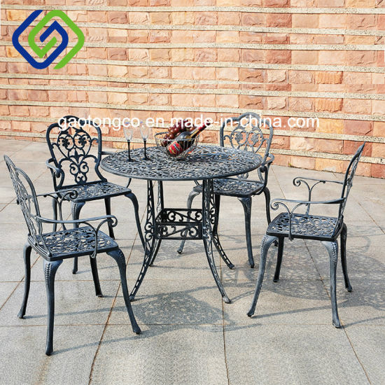 5 Piece Patio Cast Aluminium Bistro Set