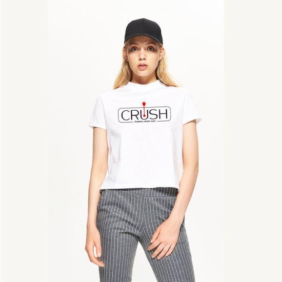 Slim Fit Women's Round Neck T-Shirt with Custom Logo