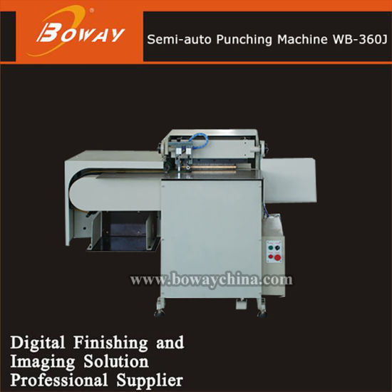 Semi-Auto Pre-Bound Books Notebooks or Calendars Drilling Punching Machine for Binding Wb-360j pictures & photos