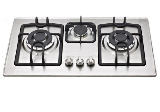 Cast Iron Pan Supporter 3 Gas Burner, Gas Cooker