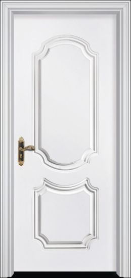 China White Lacquer Mdf Interior Panel Solid Wood Door China Solid