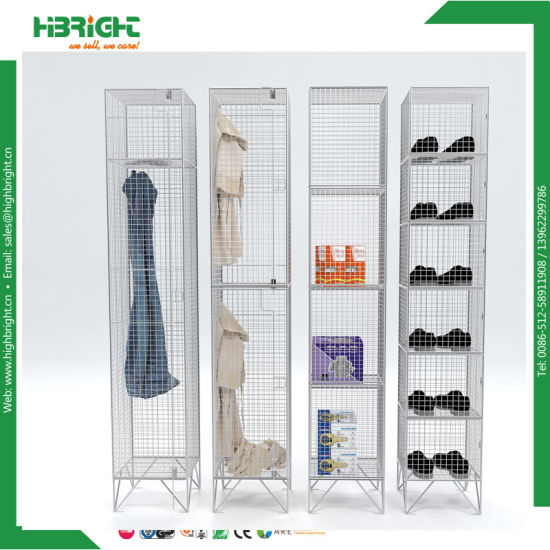 Industrial Wire Mesh Storage Lockers