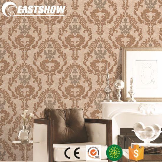 Pvc Waterproof Wallpaper For Living Room 450g Sqm 53cm 10m